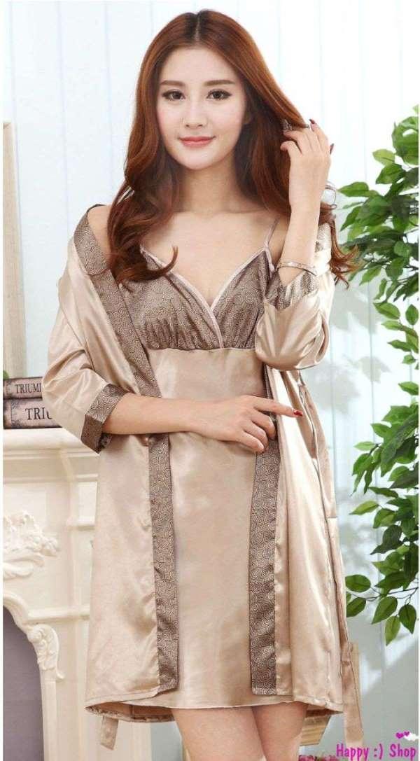 áo choàng váy ngủ phi lụa