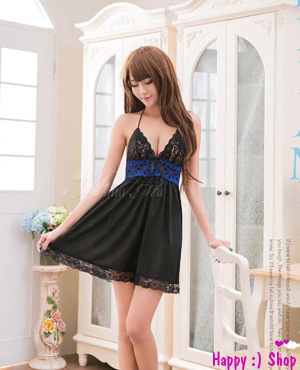Đầm ngủ quyến rũ Elegant Princess satin mềm mại TK627