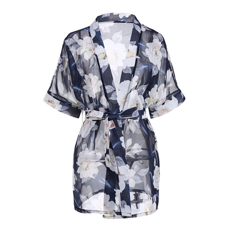 TK723 ao choang kimono xanh hoa trang