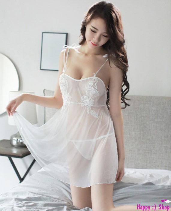 Váy-ngủ-trắng-xuyên-thấu-xẻ-lưng-phía-sau-TK1030