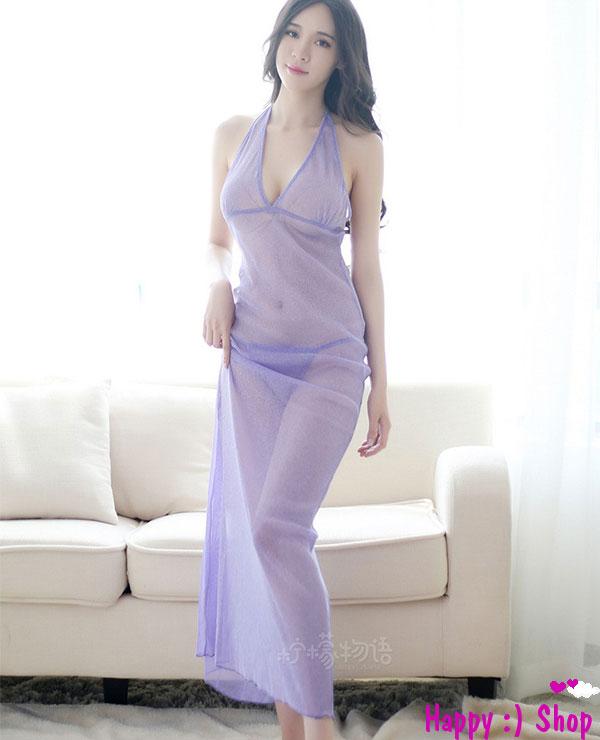 Đầm ngủ nữ dài xuyên thấu