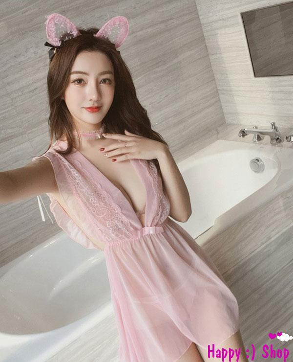Váy ngủ hồng ngọt ngào