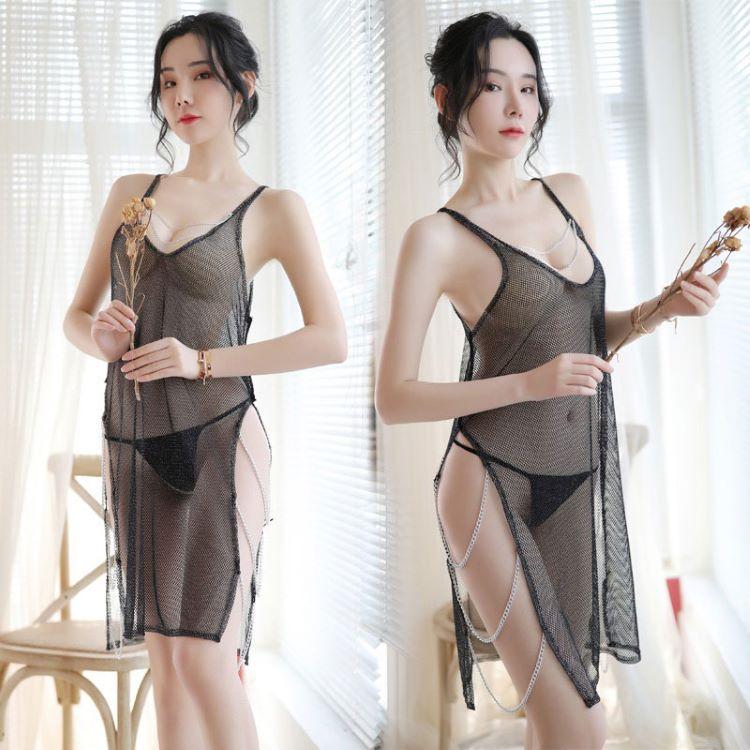 váy ngủ lưới trong suốt
