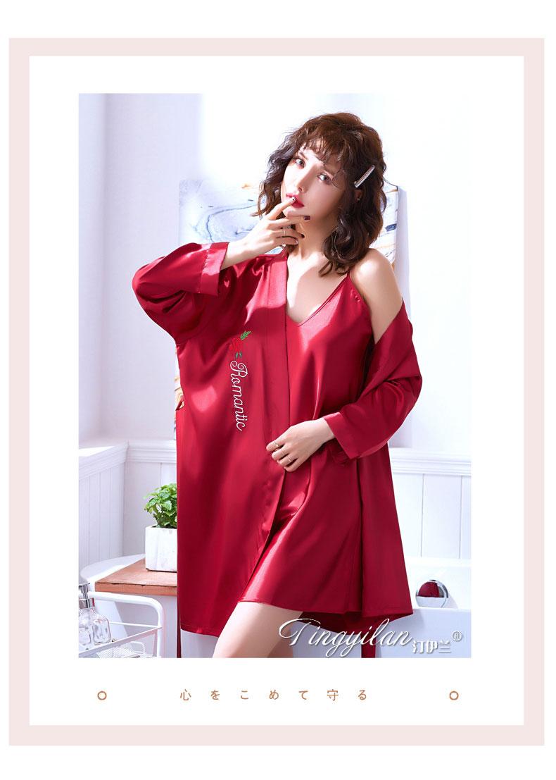 áo khoác ngủ nữ bằng phi