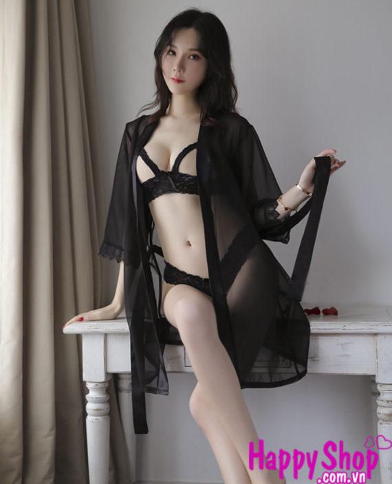 Áo choàng kèm đồ lót sexy