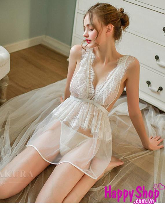 Đầm ngủ xoè xuyên thấu sexy