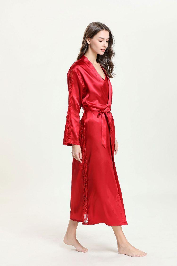 áo choàng lụa dài