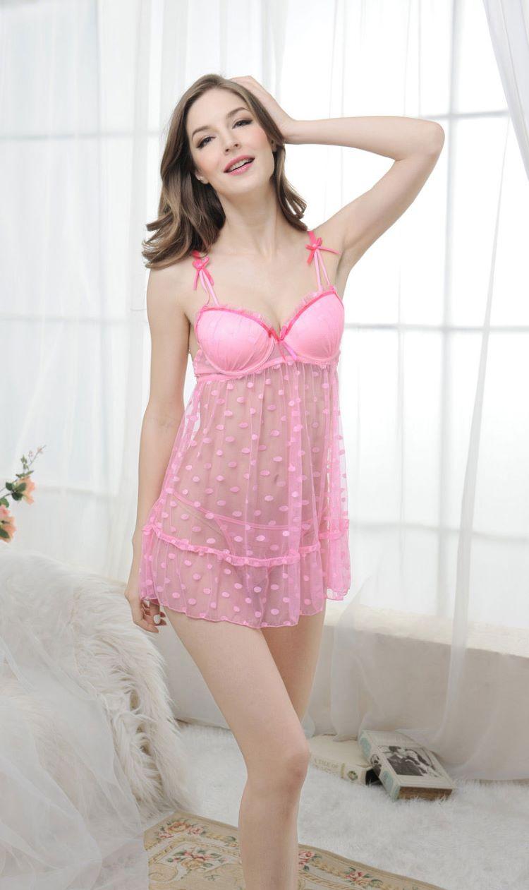 Đầm ngủ hồng dễ thương