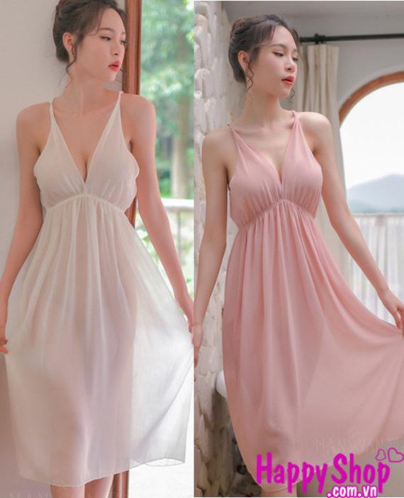 Váy ngủ voan gợi cảm