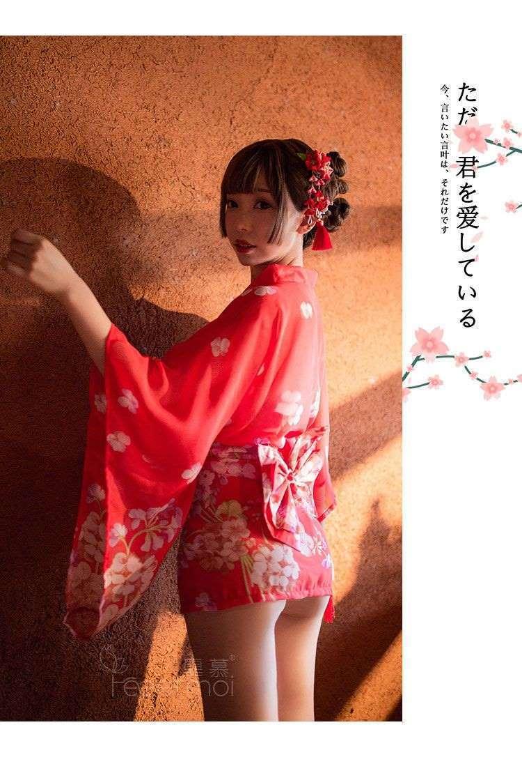 Ao ngu kimono hoa anh dao do goi cam TK3046 2