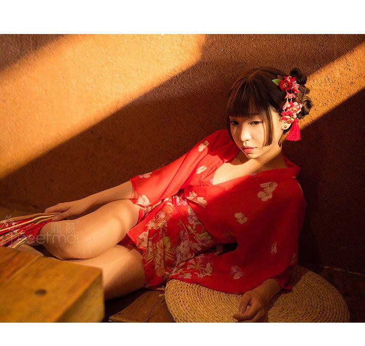 Ao ngu kimono hoa anh dao do goi cam TK3046 6