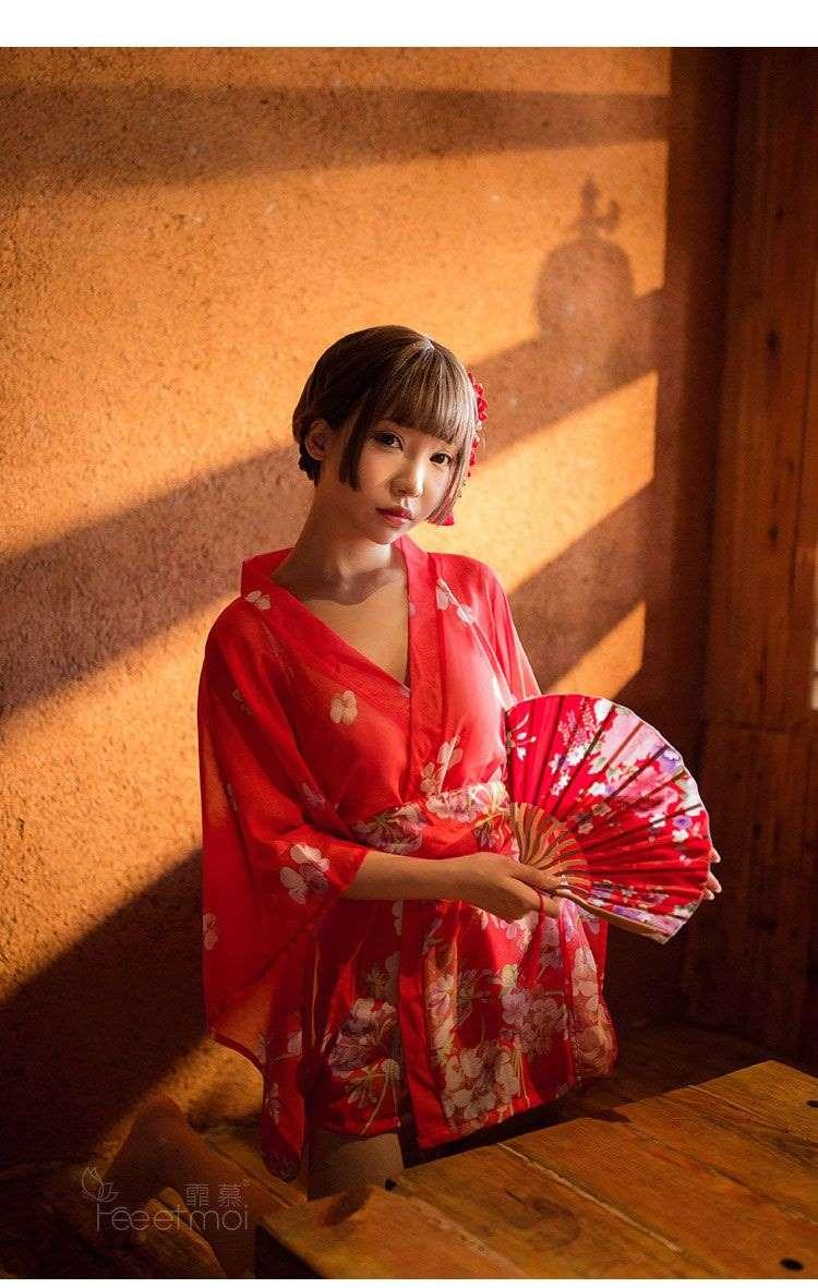 áo ngủ kimono sexy