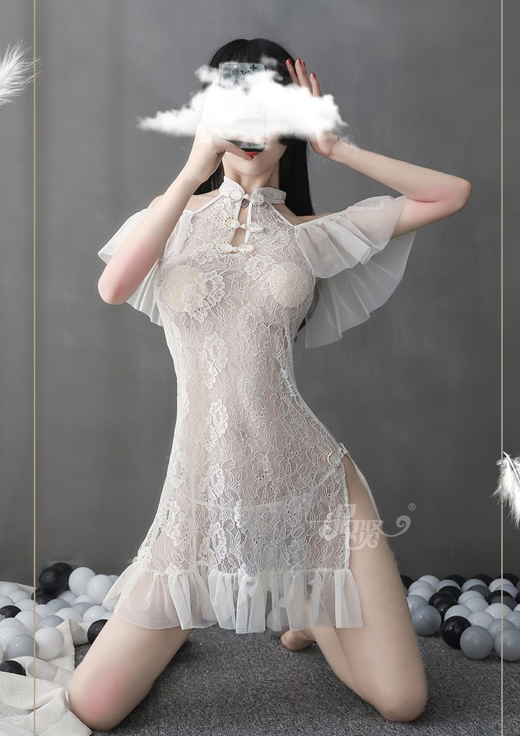 váy ngủ sườn xám
