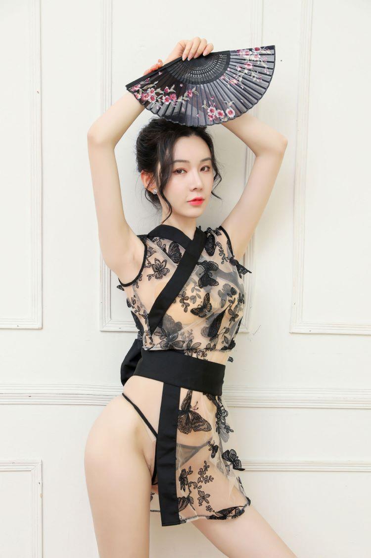 Ao ngu kimono trong suot TK2427 7