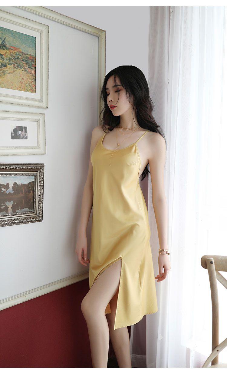 váy ngủ màu vàng