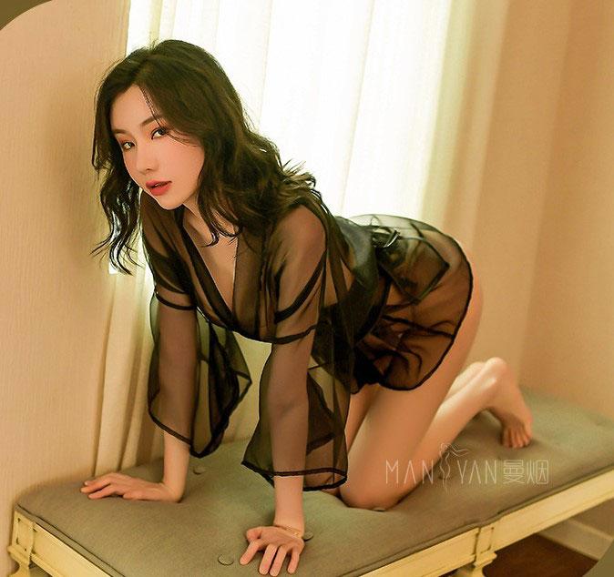 Ao ngu kimono sexy trong suot TK2455 6
