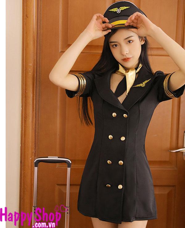 cosplay tiếp viên hàng không