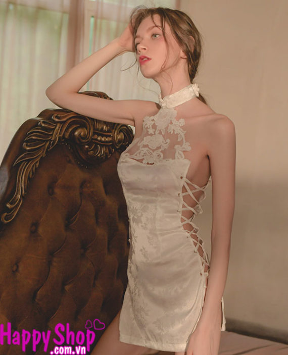 áo sườn xám ngực hoa