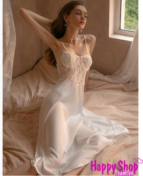 váy ngủ dài qua gối
